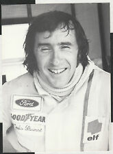 Jackie Stewart Original fotografía de retrato de época Foto Tyrrell Ford década de 1970 F1