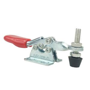 2pcs Toggle Clamp Quick Fixed Iron Galvanized Vertical Clamp Push-Pull Type Clamp Vertical Clamp
