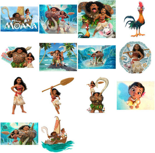 Choose image and size iron on T shirt transfer Moana