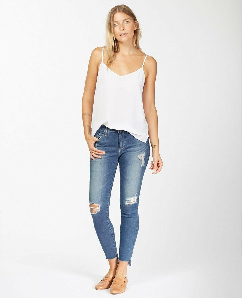 198 NEW AG Jeans The Middi Ankle - Mid Rise Legging in Iconic Size 28