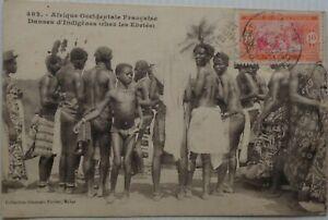 SENEGAL-cartolina-Dakar-Danses-nativi-Buone-Condizioni-1921