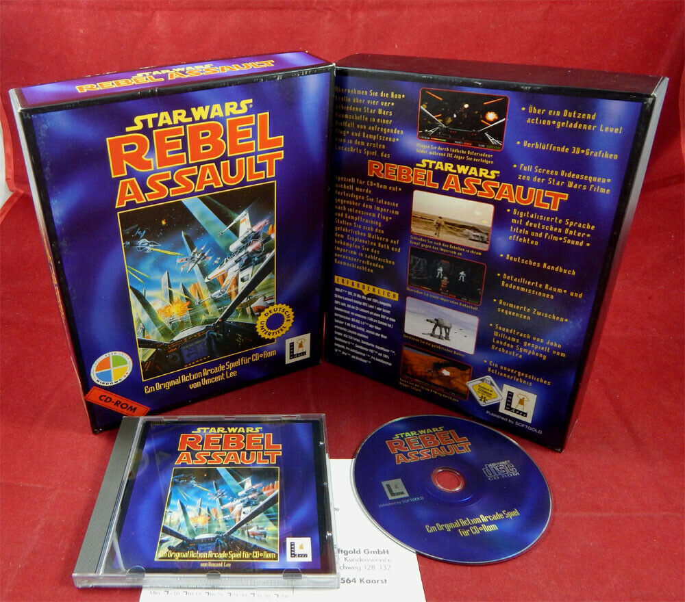 PC DOS: Star Wars: Rebel Assault 1 mit OVP - pas cher StarWars