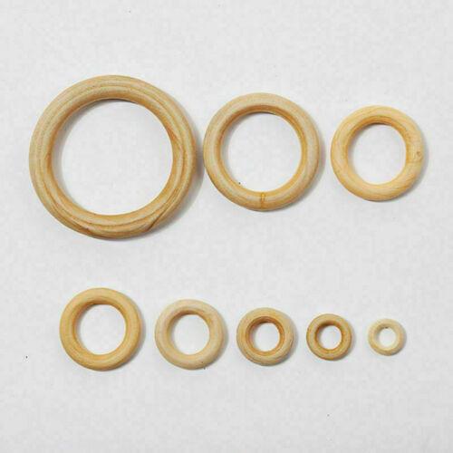 10PCS DIY Rings Crafts Connectors Teething Wooden Natural Circles Wood 15-70MM