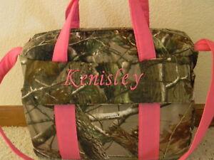 Image Is Loading Realtree Camo Pink Trimmed Custom Handmade Diaper Bag