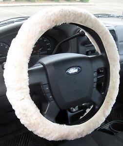 sheepskin steering wheel cover pearl 687006000342 ebay