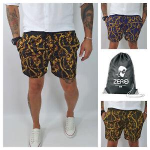 Costume-Bagno-Uomo-Da-Mare-Barocco-Bermuda-NERO-VERDE-BLU-Boxer-Pantaloncino