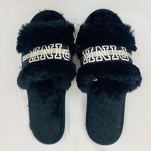 Victoria's Secret PINK Black Faux Fur