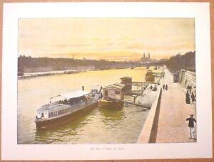 PARIS-la-Seine-Photochromie-fin-19eme-gravure