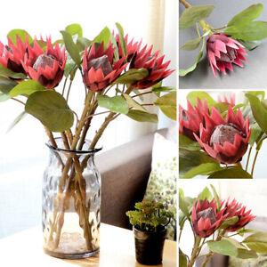 BG-BL-1Pc-King-Protea-Artificial-Flower-Fake-Plant-DIY-Wedding-Bouquet-Party-D