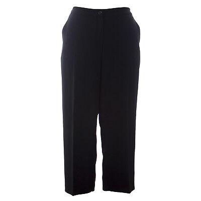 MARINA RINALDI Women/'s Black Radici Pants W//Side Stripe $260 NWT