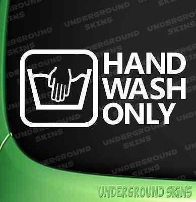 Lavage à la main uniquement Drôle Jdm Drift Euro Vitre VW Autocollant Vinyle Autocollant Voiture