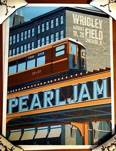 Pearl-Jam-Chicago-Wrigley-Field-Poster-2018-August-18th-20th-Steve-Thomas-Vedder
