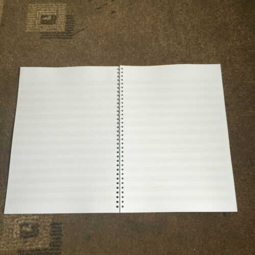A4 Wirebound Music Composition Manuscript Book 14 Staves Per Page 40 Pages
