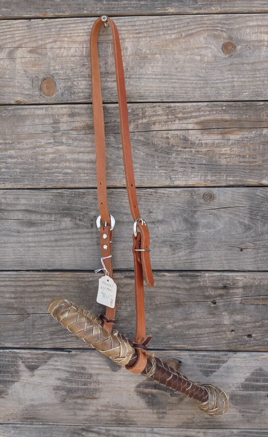 Braided Rawhide Bosal and Harness Leather Hanger 19860   on sale