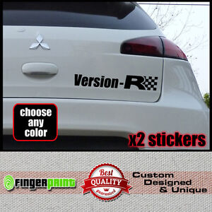VERSION R Sticker Decal Vinyl Mitsubishi Colt Ralliart Rear Czt - Colts custom vinyl decals for car