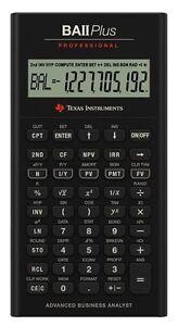 Texas Instruments BA-II Plus Professional Financial  Calculator