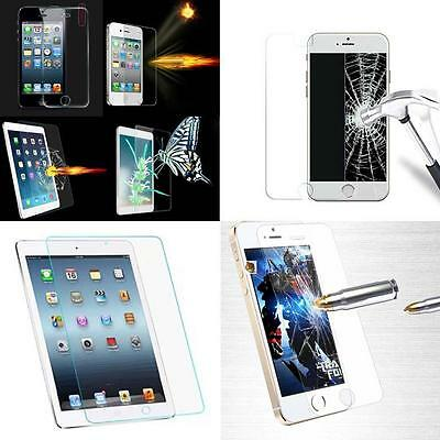Tempered Glass Film Screen Protector For iPhone 4 4S 5 5S 6 Plus iPad 2/3/4 BA