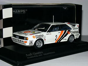 Minichamps-AUDI-QUATTRO-Clarion-1984-Rally-Suecia-2-Ltd-Ed-1-43