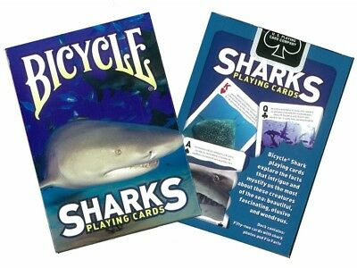 Bicycle Sharks with Shark Facts Playing Cards 1 Sealed Deck