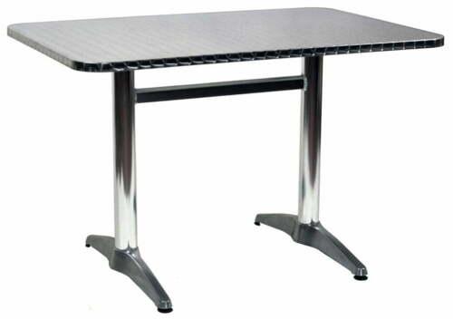 Tavolo Rettangolare da Giardino in Alluminio e Acciaio 70x110 cm Vorghini