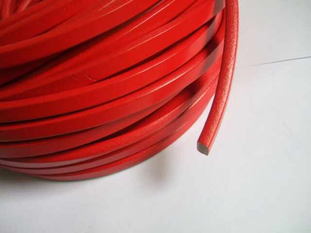 20cm/1/5 Yards Red Licorice Leather Cord 10.0x6.0mm