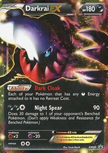 Pokemon BW46 Darkrai Ex Promo Card FROM Fall Legendary 2012 Collectors Tin