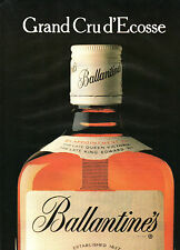 Publicité Advertising 1982  WHISKY Ballantine's Grand Cru d' Ecosse