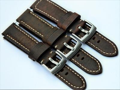 Handmade Watch Strap Padded Genuine Calf Leather Antique Style Effect Delikatessen Von Allen Geliebt
