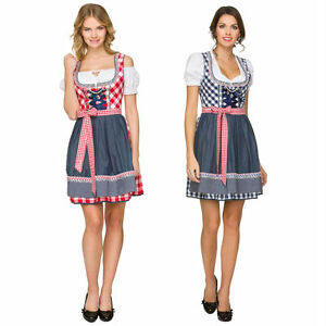 f8e25b9a5022ca Image is loading Womens-German-Traditional-Dirndl-Dress-Oktoberfest -Beer-Costume-