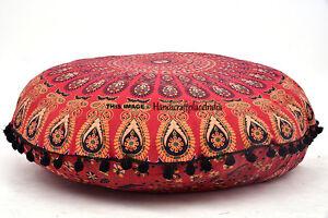 New-32-034-Floor-Pillows-Round-Meditation-Cushion-Cover-Ottoman-Pouf-Large-Mandala