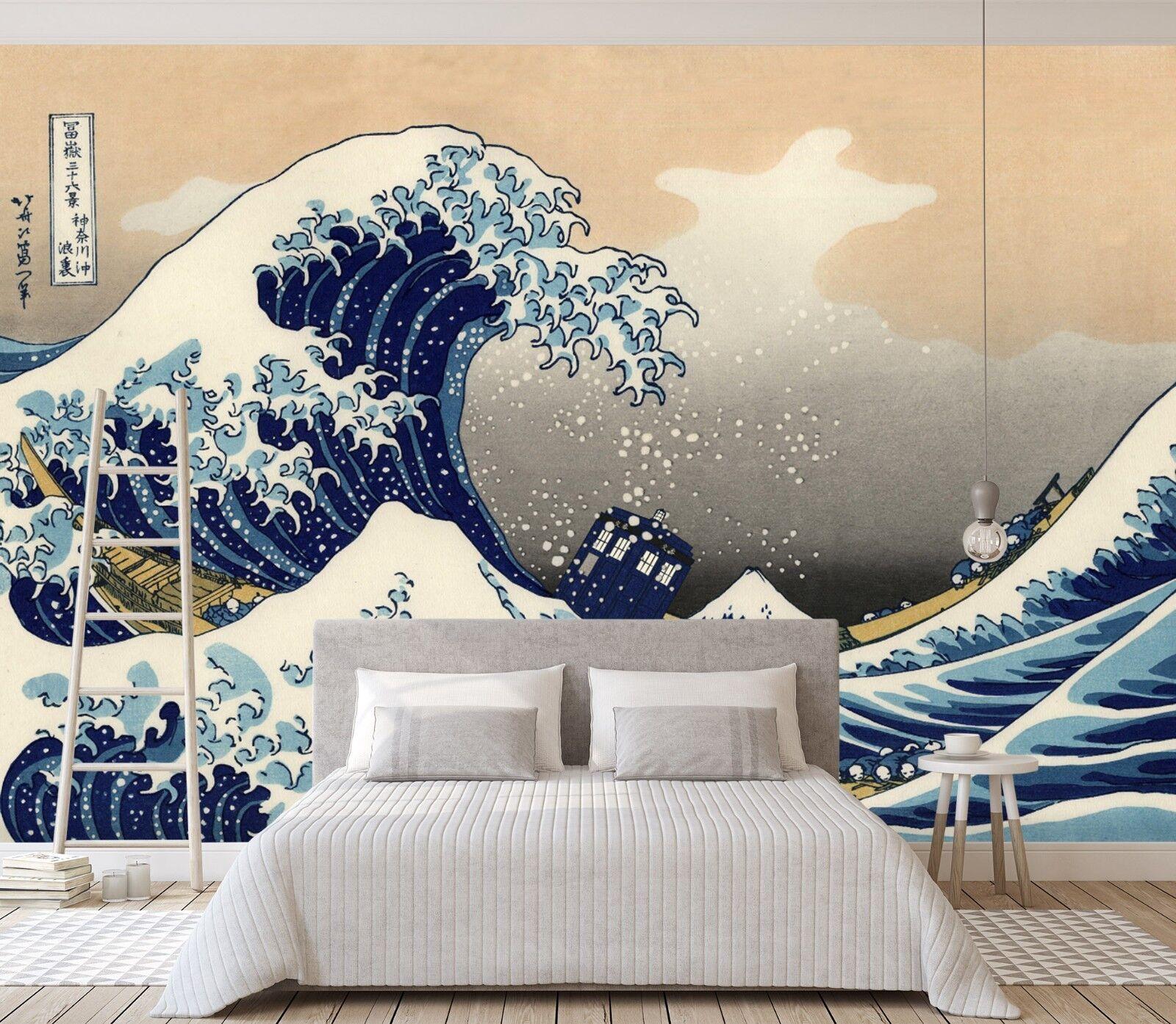 3D Wellen Blau 846 Tapete Wandgemälde Tapete Tapeten Bild Familie DE Lemon