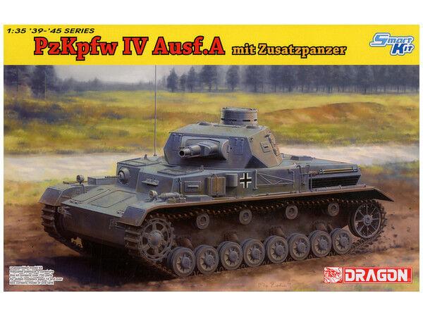 Dragon 1 35 Pz.Kpfw.IV Ausf.A mit Zusatzpanzer Plastic Model Kit
