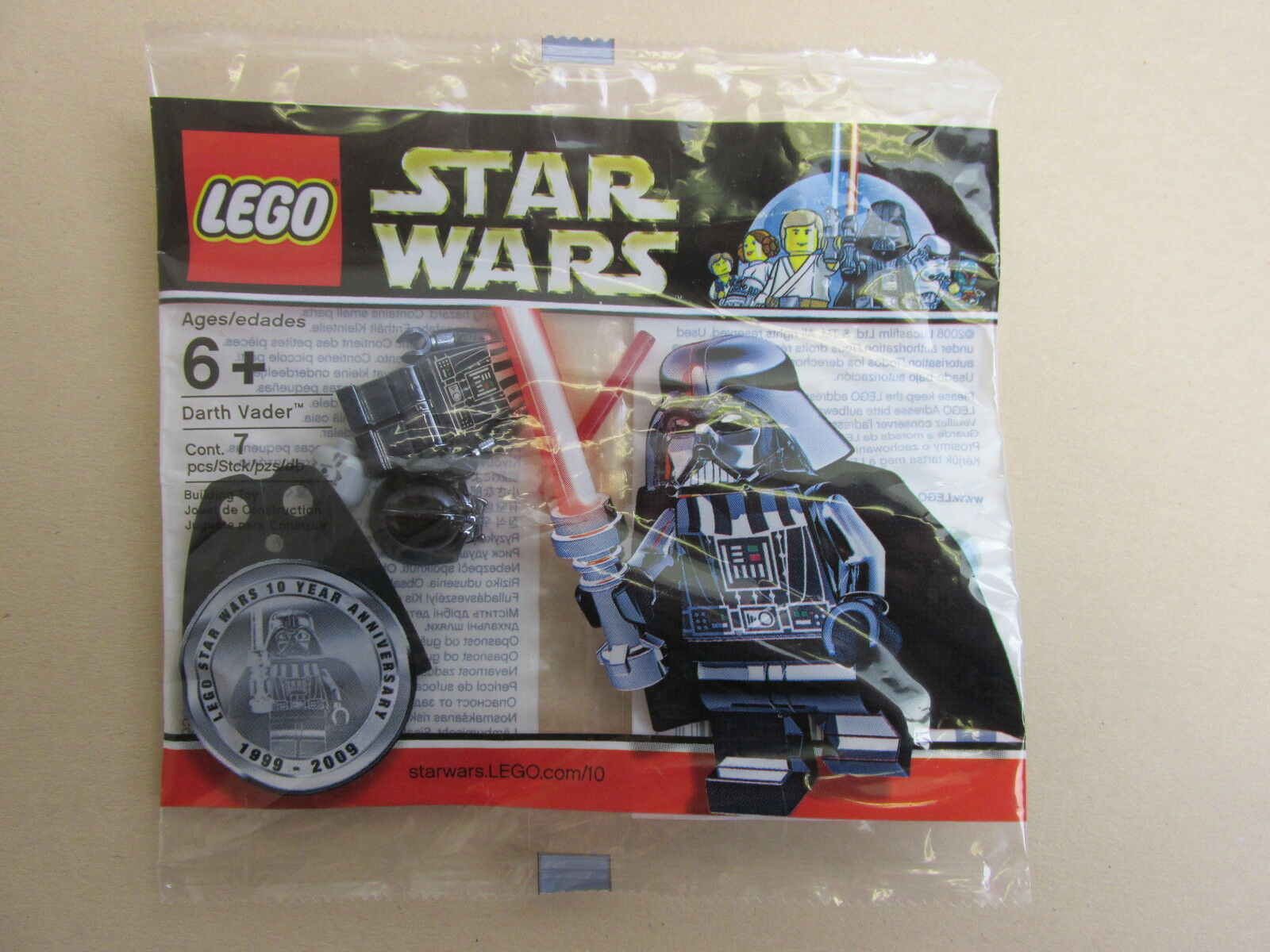 VERY RARE lego star wars CHROME DARTH VADER minifigure polybag NEW SEALED promo