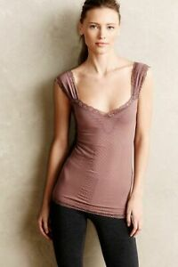 New-Anthropologie-Womens-Eloise-Laced-Seamless-Stretchy-V-Neck-Tank-Top-Cami-38