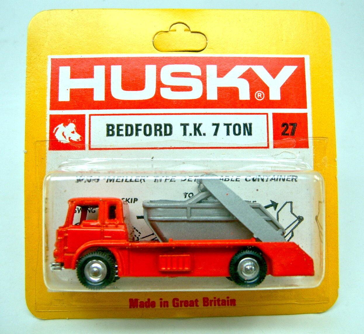 Husky no.27 bedford tk 7ton Orange - grau top im blister