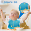 miniature 7 - Silicone Baby Bibs Waterproof Pink or Blue - 2 pack Baby Bib Silicone