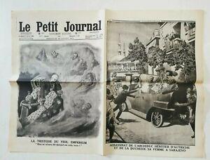 N941-La-Une-Du-Journal-Le-petit-journal-12-juillet-1914-tristesse-Veil-empereur