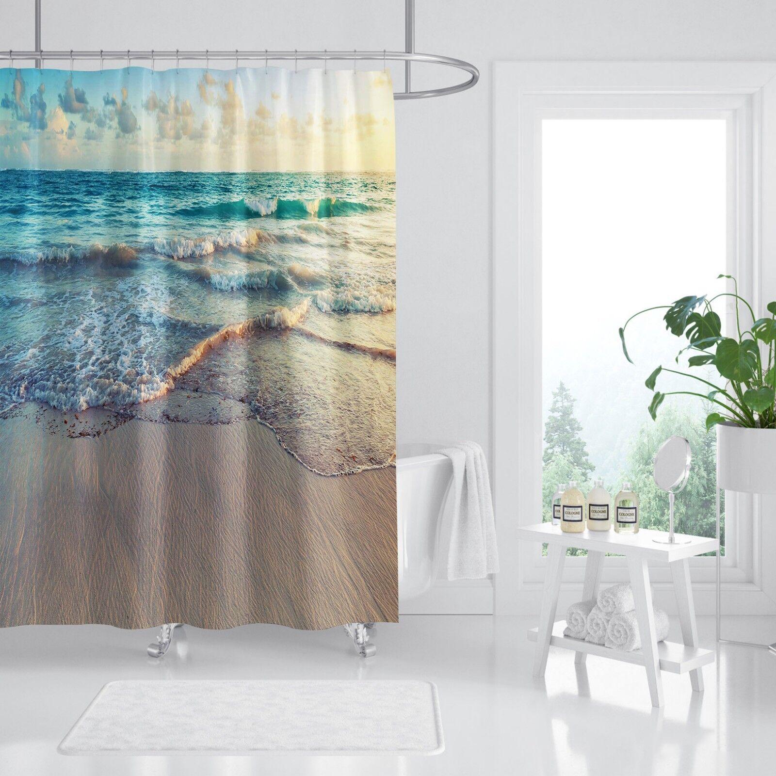 3D Schöner Strand 7 7 7 Duschvorhang Wasserdicht Faser Bad Daheim Windows Toilette | Elegant  693394