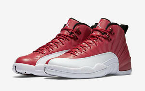 Nike-Air-Jordan-12-Retro-Gym-Red-XII-Size-6C-18-Alternate-White-Black-130690-600