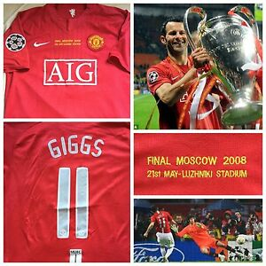 ba4dfae7f5a Image is loading RARE-GIGGS-MANCHESTER-UNITED-SHIRT-JERSEY-FINAL-CHAMPIONS-