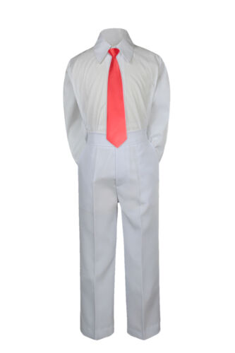 3pc Boy Suit Set Red Christmas Necktie Baby Toddler Kid Formal Shirt Pants S-7