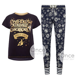 primark ladies fantastic beasts harry potter pyjamas pj collection ebay. Black Bedroom Furniture Sets. Home Design Ideas