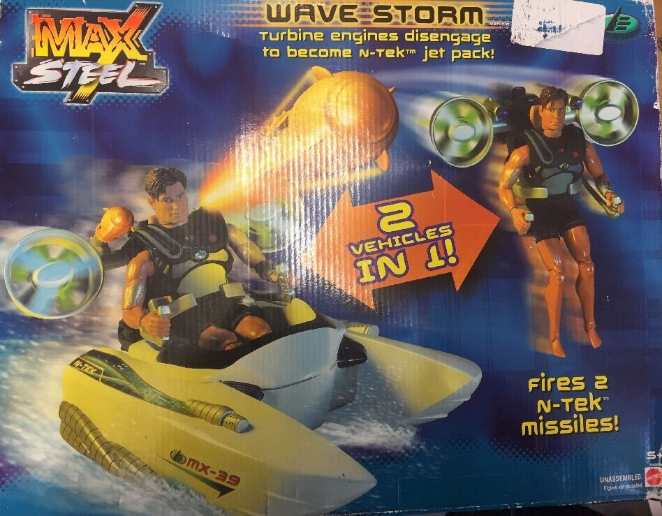 Rare Max Steel WAVE STORM Vehicle BNIB Mattel 53362