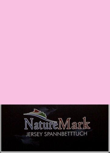 NatureMark Jersey Spannbetttuch Größe 140x200 cm bis 160x200 cm in  20 Farben