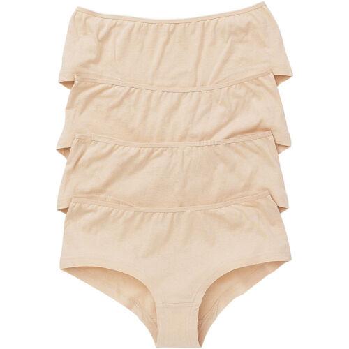 Just Essentials Women/'s Ladies Multipack of 4 Hipster Briefs Cotton Plain Cols