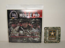 MOUSE PAD - United States Army SOLDIER w/Coaster