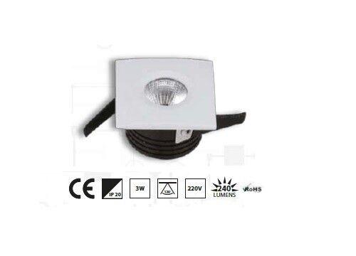 3 W DEL installation projecteur Installation Cadre Encastré Blanc Chaud Lumière KLEIN Mini Forme