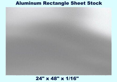 Aluminum Rectangle Sheet Stock  24 x 48 x 1/16  3003 Alloy  Mill Finish Plate