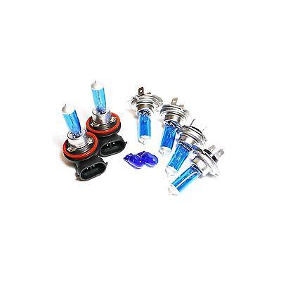 55w ICE Blue Xenon Upgrade HID High//Low//Fog//Side Light Headlight Bulbs