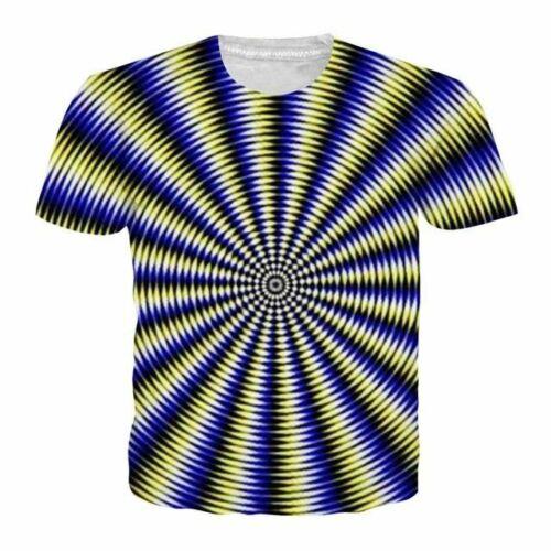 Men Women Whirlpool Print Homme Top Streetwear Camisetas Hombre